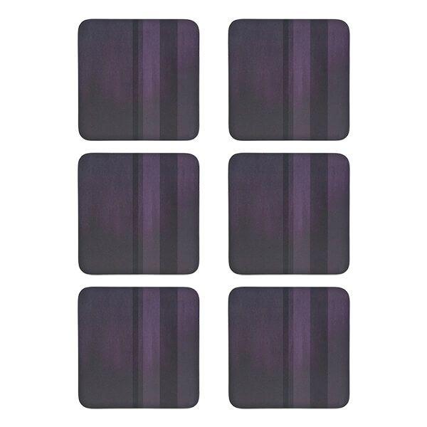 Denby Colours Set Of 6 Purple Coasters