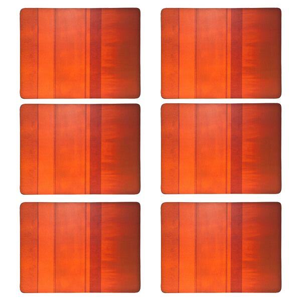Denby Colours Set Of 6 Orange Placemats
