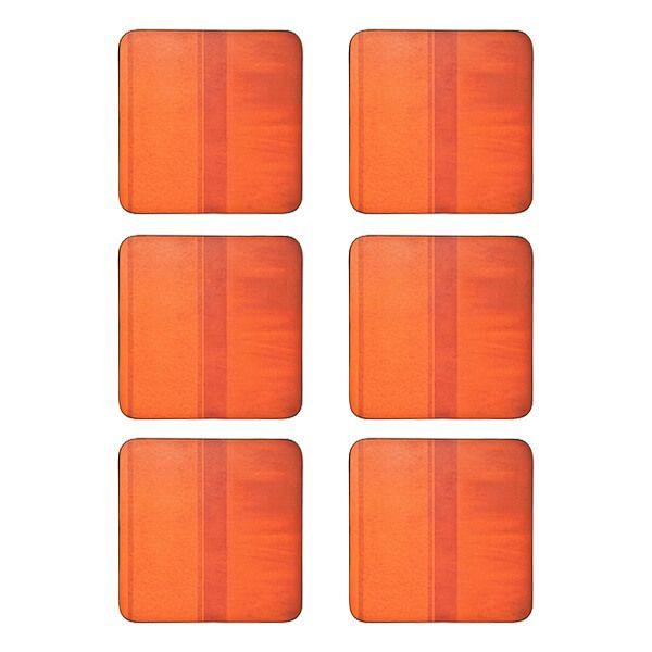Denby Colours Set Of 6 Orange Coasters