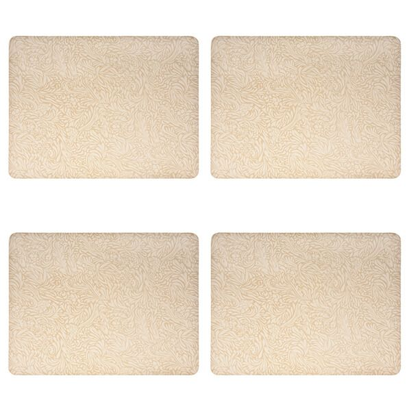 Denby Monsoon Lucille Gold Set Of 4 Placemats
