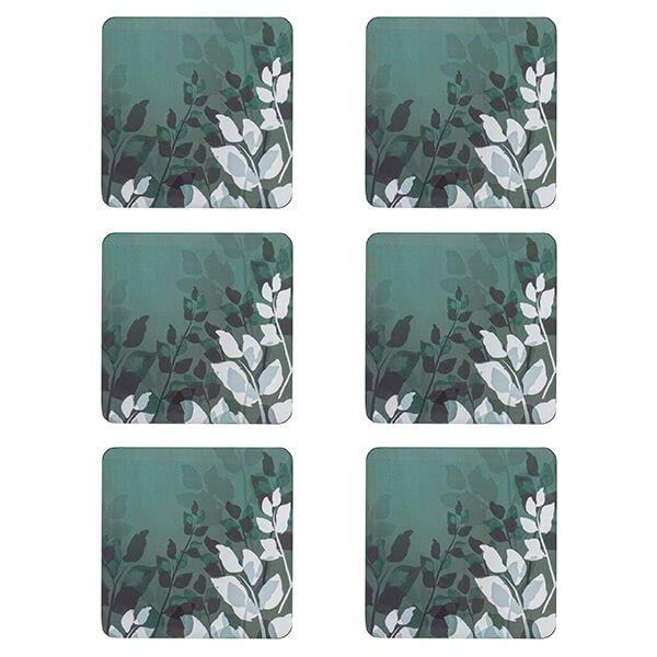 Denby Colours Green Foliage Coasters Set Of 6