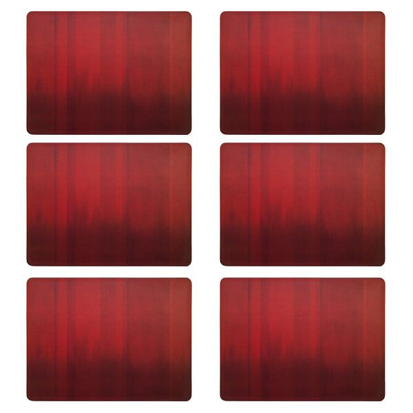 Denby Colours Set Of 6 Red Placemats