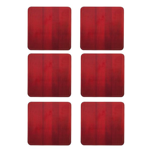 Denby Colours Set Of 6 Red Coasters