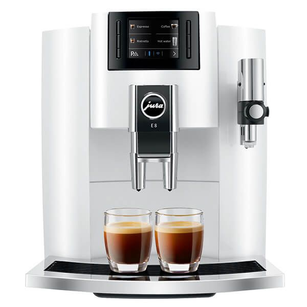 Jura E8 Piano White Automatic Coffee Machine