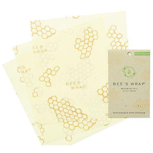Bee's Wrap Set Of 3 Medium Wraps 25 x 27.5cm