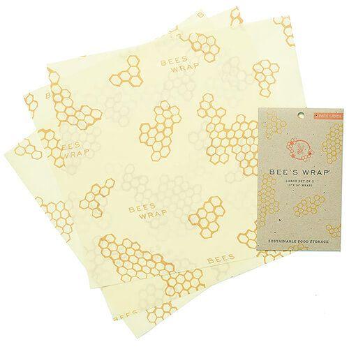 Bee's Wrap Set Of 3 Large Wraps 33 x 35cm
