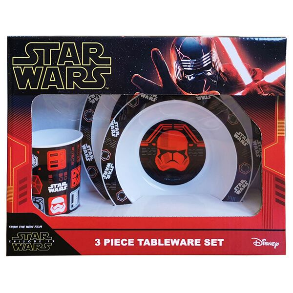 Star Wars Episode IX 3 Piece Tableware Set Gift Boxed