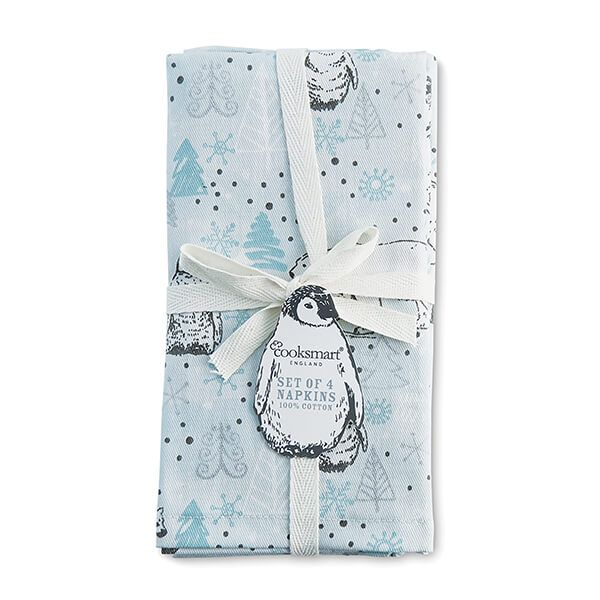 Cooksmart Frosty Morning Set Of 4 Napkins