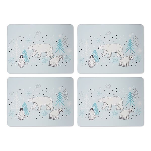 Cooksmart Frosty Morning Set Of 4 Placemats