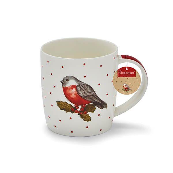 Cooksmart Red Red Robin Barrel Mug