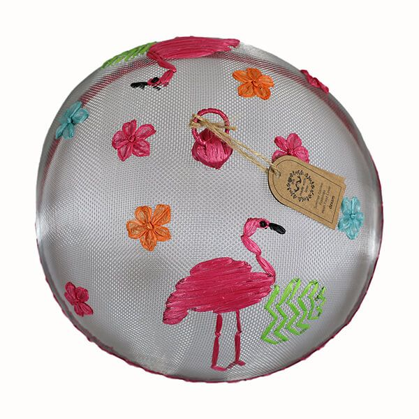 Dexam Summer Garden Flamingo Mesh Food Cover
