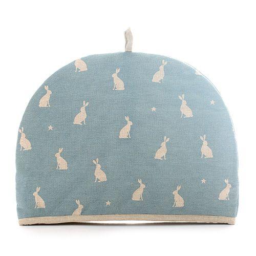 Dexam Vintage Stargazing Hares 6 Cup Tea Cosy Blue