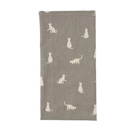 Dexam Vintage Happy Cats Tea Towel Slate