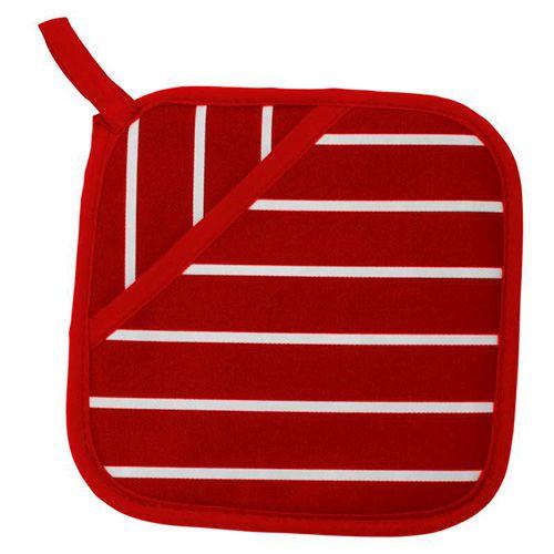 Dexam Rushbrookes Classic Butchers Stripe Pot Grab Red