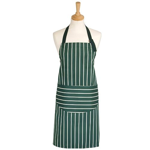 Dexam Rushbrookes Classic Butchers Stripe Adult Apron Green