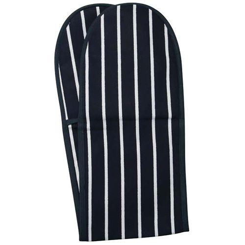 Dexam Rushbrookes Classic Butchers Stripe Double Oven Glove Blue