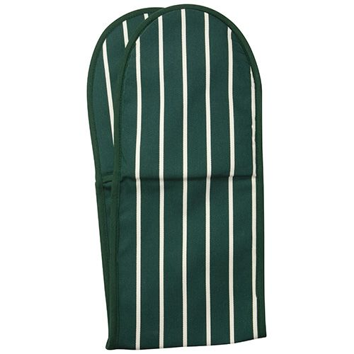 Dexam Rushbrookes Classic Butchers Stripe Double Oven Glove Green