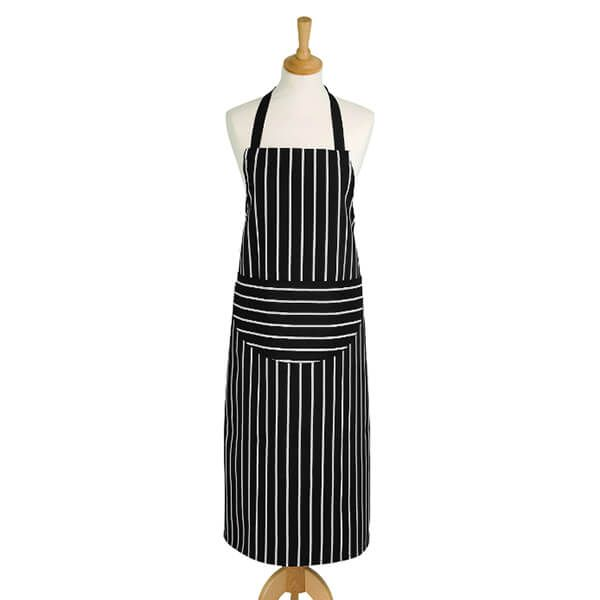 Dexam Rushbrookes Butchers Stripe Long Apron Slate Grey