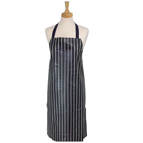 Dexam Rushbrookes Classic Butchers Stripe PVC Adult Apron Navy