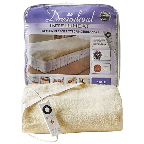 Dreamland Intelliheat Soft Fleece Easy Fitted Underblanket Single