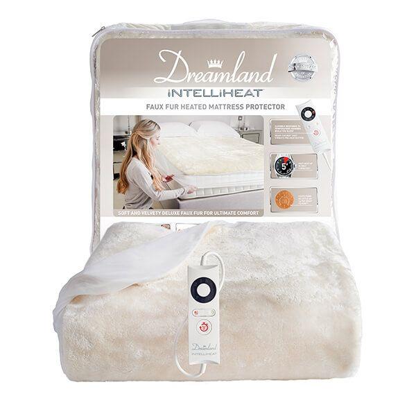 Dreamland Faux Fur Heated Mattress Protector Single