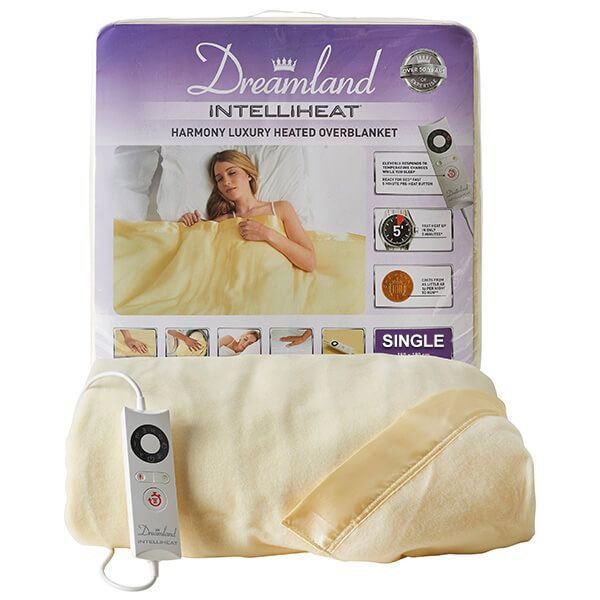 Dreamland Intelliheat Harmony Super-Soft Heated Overblanket Single