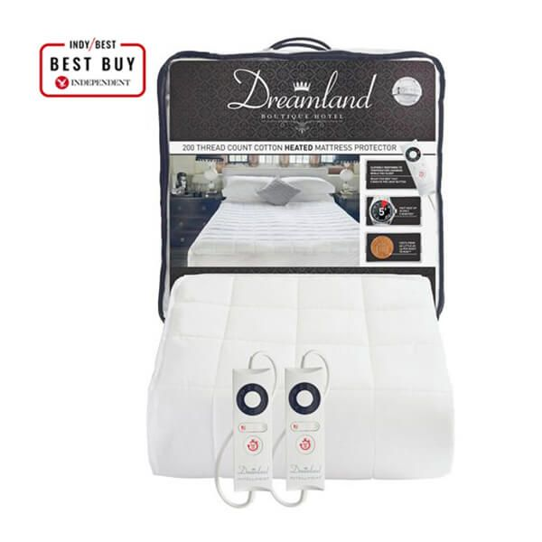 Dreamland Boutique Heated Mattress Protector Double Dual