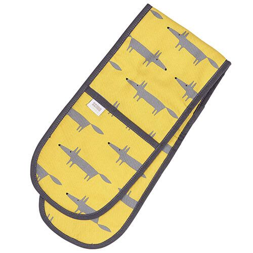 Scion Living Mr Fox Double Oven Glove Yellow