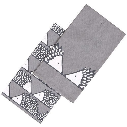 Scion Living Spike Tea Towels Set Of 2 Grey