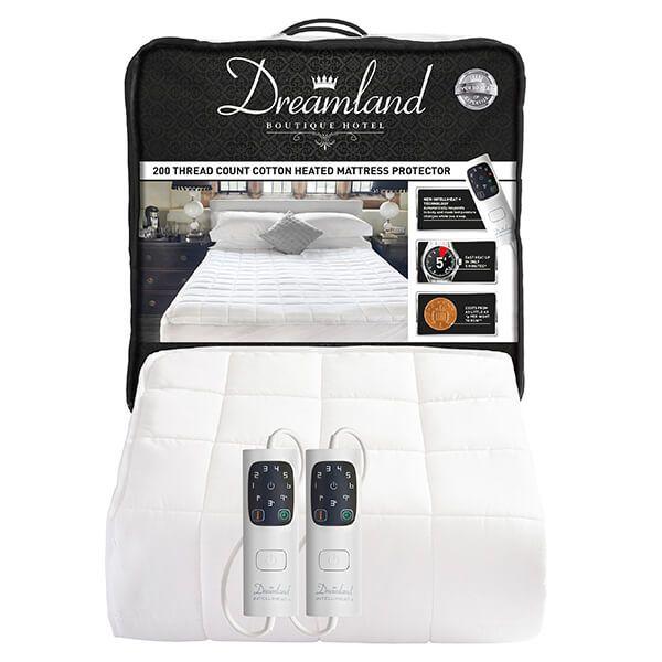 Dreamland Boutique Heated Mattress Protector Kingsize Dual Controls