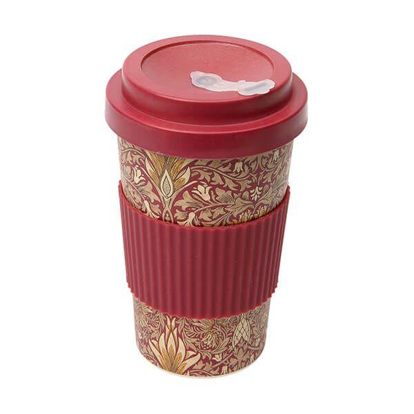 Morris & Co Bamboo Snakeshead Claret Drinks Mug 400ml