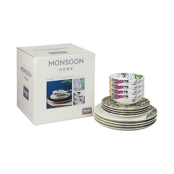 Denby Monsoon Cosmic 12 Piece Tableware Set