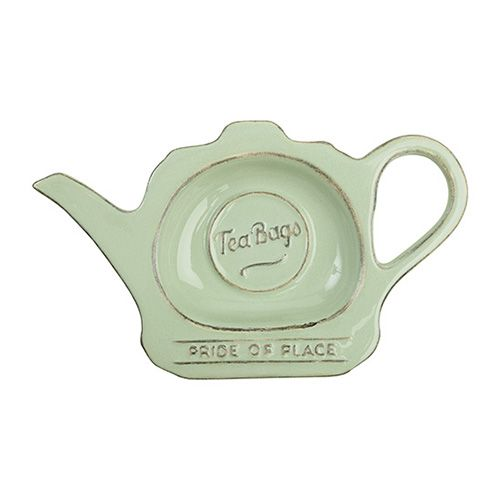 T&G Pride Of Place Tea Bag Tidy Old Green