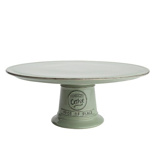 T&G Pride Of Place Cake Stand Old Green