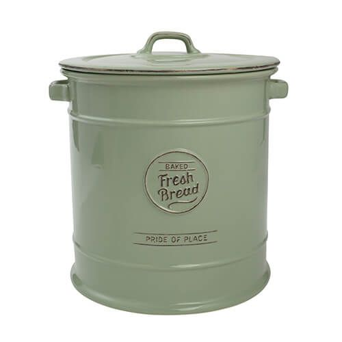 T&G Pride Of Place Bread Crock Old Green