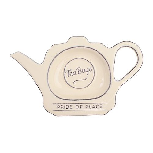 T&G Pride Of Place Tea Bag Tidy Old Cream