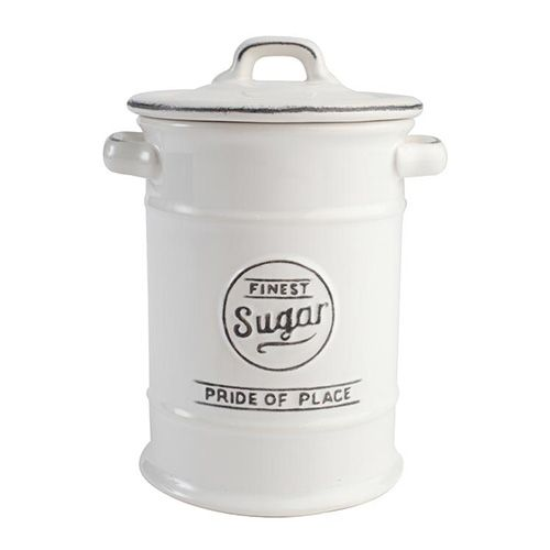 T&G Pride Of Place Sugar Jar White