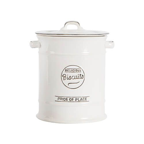 T&G Pride Of Place Large Biscuit Jar White