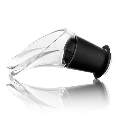 Vacu Vin Wine Server Crystal Black Set Of 2