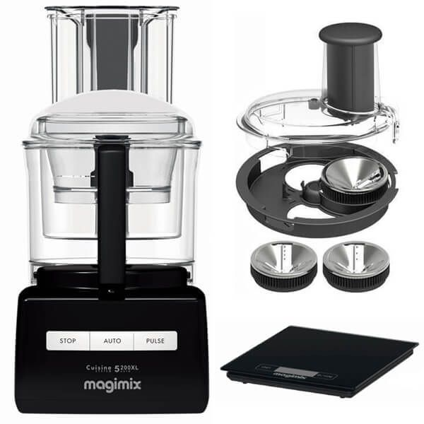 Magimix 5200XL Black BlenderMix Food Processor with FREE Gifts
