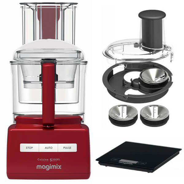 Magimix 5200XL Red BlenderMix Food Processor with FREE Gifts
