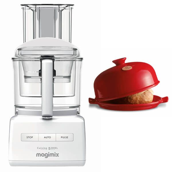 Magimix 5200XL White Food Processor with FREE Gift