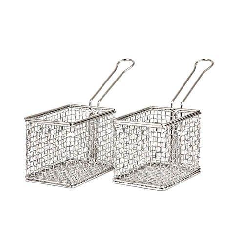 James Martin Denby Gastro 2 Piece Mini Fry Basket Kit