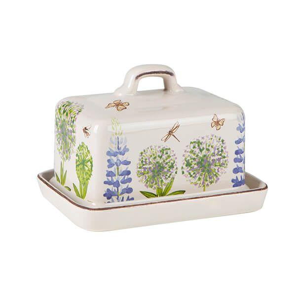 T&G Cottage Garden Butter Dish