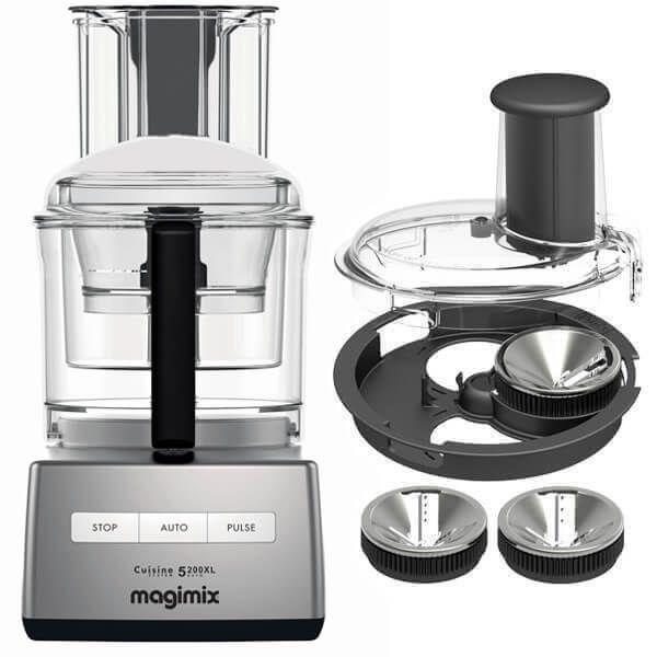Magimix 5200XL Premium Satin Finish BlenderMix Food Processor with FREE Gift