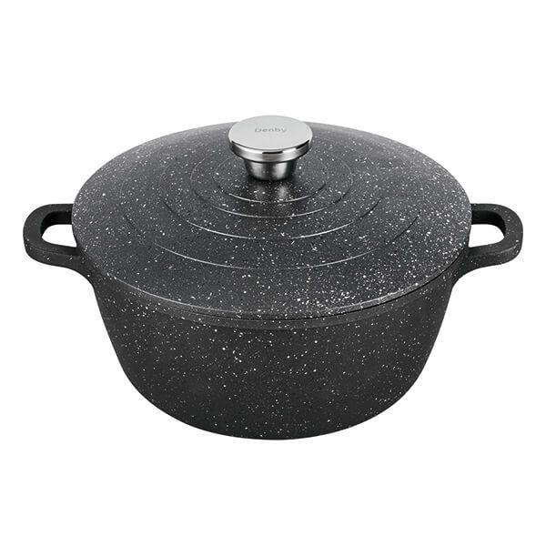 Denby Granite Finish Cast Aluminium 24cm Casserole Dish