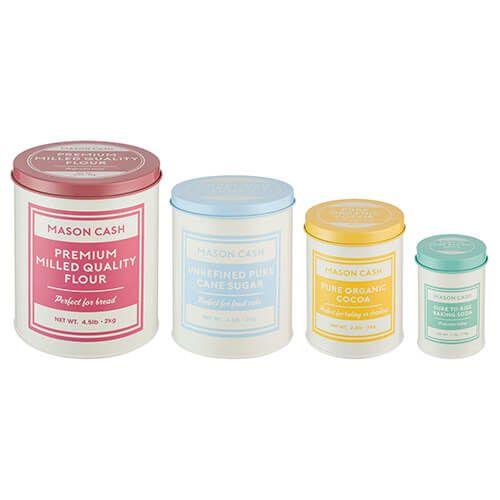 Mason Cash Baker's Authority Set Of 4 Storage Tins