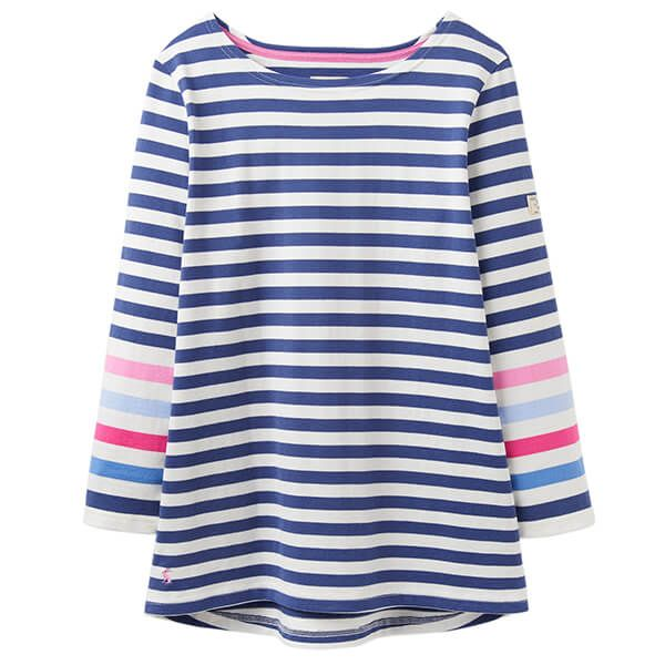 Joules Harbour Cream Blue Stripe Jersey Top