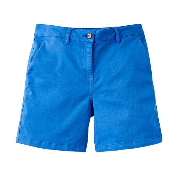 Joules Cruise Mid Blue Mid Thigh Length Chino Shorts Size 16