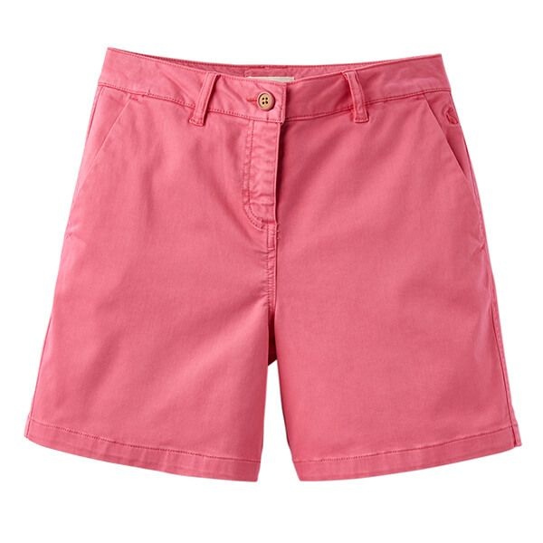 Joules Cruise Rose Hip Mid Thigh Length Chino Shorts Size 16